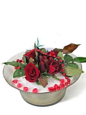 Afyon çiçek siparişi vermek  EN ÇOK Sevenlere 7 adet kirmizi gül mika yada cam tanzim