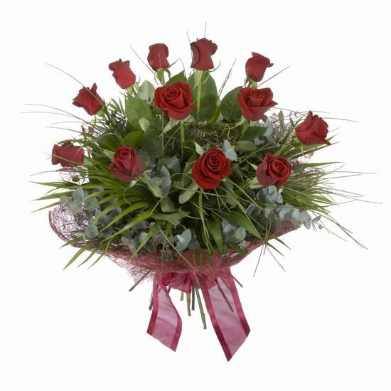 Etkileyici buket 11 adet kirmizi gül buketi  Afyon internetten çiçek satışı