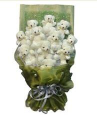 11 adet pelus ayicik buketi  Afyon online çiçek gönderme sipariş