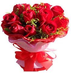 9 adet kirmizi güllerden kipkirmizi buket  Afyon çiçekçiler