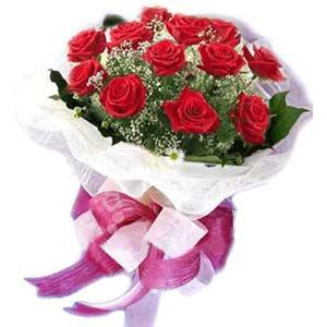 Afyon çiçek satışı  11 adet kırmızı güllerden buket modeli