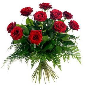 Afyon çiçek gönderme  10 adet kırmızı gülden buket