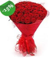 51 adet kırmızı gül buketi özel hissedenlere  Afyon çiçek siparişi sitesi