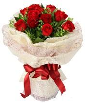 12 adet kırmızı gül buketi  Afyon anneler günü çiçek yolla