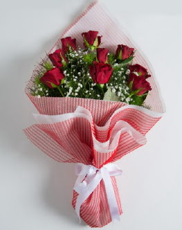 9 adet kırmızı gülden buket  Afyon çiçek satışı