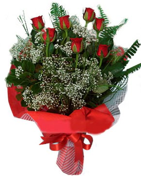 7 kırmızı gül buketi  Afyon çiçek servisi , çiçekçi adresleri