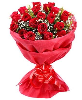 21 adet kırmızı gülden modern buket  Afyon çiçek gönderme