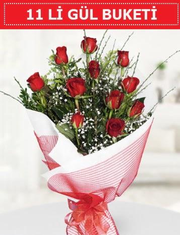 11 adet kırmızı gül buketi Aşk budur  Afyon çiçek gönderme sitemiz güvenlidir