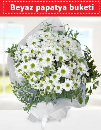 Beyaz Papatya Buketi  Afyon 14 şubat sevgililer günü çiçek