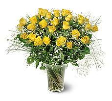 Afyon çiçek siparişi sitesi  15 adet sarigül mika yada cam vazoda