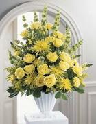 Afyon çiçek siparişi sitesi  sari güllerden sebboy tanzim çiçek siparisi