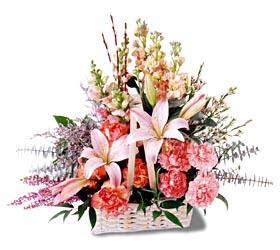 Afyon çiçek siparişi sitesi  mevsim çiçekleri sepeti özel tanzim