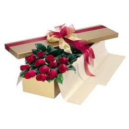 Afyon cicekciler , cicek siparisi  10 adet kutu özel kutu