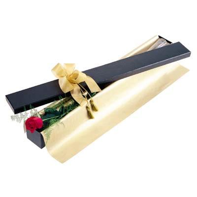 Afyon uluslararası çiçek gönderme  tek kutu gül özel kutu