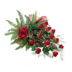 Afyon online çiçek gönderme sipariş  10 adet kirmizi gül özel buket çiçek siparisi