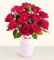 Afyon hediye çiçek yolla  10 kirmizi gül cam yada mika vazo tanzim