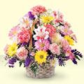Afyon uluslararası çiçek gönderme  sepet içerisinde gül ve mevsim