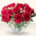 Afyon çiçek online çiçek siparişi  mika yada cam içerisinde 10 gül - sevenler için ideal seçim -
