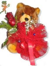 oyuncak ayi ve gül tanzim  Afyon çiçekçiler