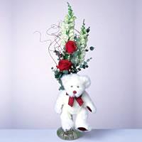 2 adet gül ve panda özel  Afyon çiçekçi mağazası