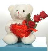 3 adetgül ve oyuncak   Afyon online çiçekçi , çiçek siparişi
