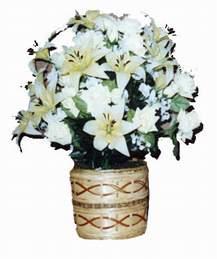 yapay karisik çiçek sepeti   Afyon çiçek mağazası , çiçekçi adresleri