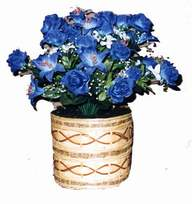 yapay mavi çiçek sepeti  Afyon cicekciler , cicek siparisi
