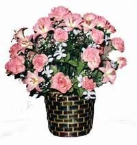 yapay karisik çiçek sepeti  Afyon çiçek online çiçek siparişi