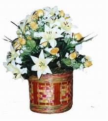 yapay karisik çiçek sepeti   Afyon cicekciler , cicek siparisi