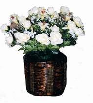 yapay karisik çiçek sepeti   Afyon cicek , cicekci