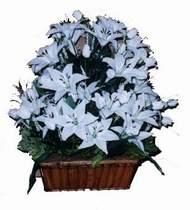 yapay karisik çiçek sepeti   Afyon online çiçek gönderme sipariş