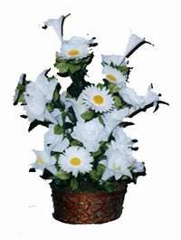 yapay karisik çiçek sepeti  Afyon çiçek siparişi vermek