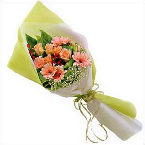 sade güllü buket demeti  Afyon çiçekçi mağazası