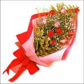 12 adet renkli  gül buketi   Afyon çiçekçi mağazası