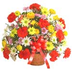 karisik renkli çiçek sepet   Afyon çiçek gönderme sitemiz güvenlidir