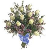 bir düzine beyaz gül buketi   Afyon çiçek gönderme sitemiz güvenlidir