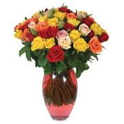 51 adet gül ve kaliteli vazo   Afyon çiçek gönderme sitemiz güvenlidir