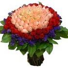 71 adet renkli gül buketi   Afyon ucuz çiçek gönder