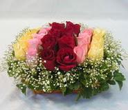 15 adet reprenkli gül sepeti   Afyon çiçek yolla