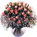büyük cam fanusta güller   Afyon çiçek yolla