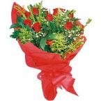 10 adet kirmizi gül buketi  Afyon çiçek yolla