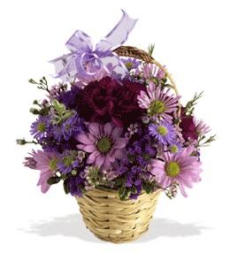 Afyon uluslararası çiçek gönderme  sepet içerisinde krizantem çiçekleri