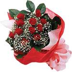 Afyon internetten çiçek satışı  KIRMIZI AMBALAJ BUKETINDE 12 ADET GÜL