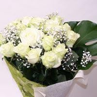 Afyon hediye çiçek yolla  11 adet sade beyaz gül buketi