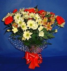 Afyon hediye çiçek yolla  kir çiçekleri buketi mevsim demeti halinde