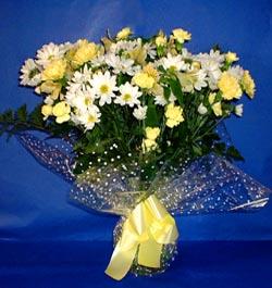 Afyon hediye çiçek yolla  sade mevsim demeti buketi sade ve özel