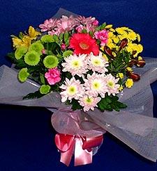 Afyon hediye çiçek yolla  küçük karisik mevsim demeti