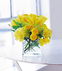 Afyon ucuz çiçek gönder  sarinin sihri cam içinde görsel sade çiçekler