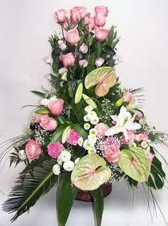 Afyon ucuz çiçek gönder  özel üstü süper aranjman