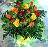13 adet karisik gül buketi demeti   Afyon uluslararası çiçek gönderme